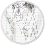 Rite Of Spring Lined 9b Round Beach Towel