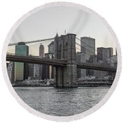 River Dwellers Round Beach Towel