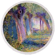 River Epte Giverny 1910  Round Beach Towel