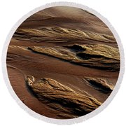 River Of Sand Round Beach Towel