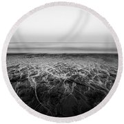 Rivers Flowing Into The Night Round Beach Towel