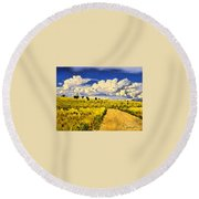 Road To Nowwhere Round Beach Towel