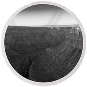 Rock Formations On The Edge Round Beach Towel