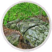 Rock On Green's Hill Round Beach Towel