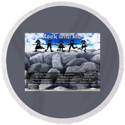 Rock With Me Round Beach Towel