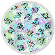 Rocketeering Repetition Round Beach Towel