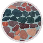 Rocks Sawed And Polished Round Beach Towel