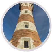 Roker Lighthouse 1 Round Beach Towel