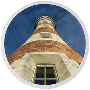 Roker Lighthouse 2 Round Beach Towel