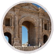 Roman Arched Entry Round Beach Towel