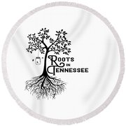 Roots In Tn Round Beach Towel