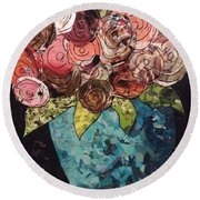Roses For Nancy Round Beach Towel