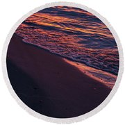 Rosy Tide Round Beach Towel
