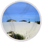 Rrippled Sand Dunes In White Sands National Monument, New Mexico - Newm500 00111 Round Beach Towel