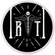 Rt Radiology Bones Medicine Radiologist Nurse Round Beach Towel