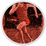 Runner 2 Round Beach Towel
