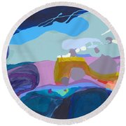 Rush Hour Round Beach Towel