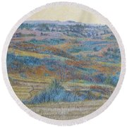 Russet Ridge Reverie Round Beach Towel