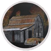 Rusty Autumn Colours Round Beach Towel by Richard Le Page