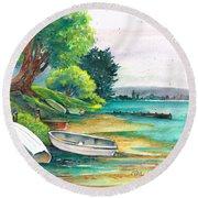 Safe Mooring-whangamata Harbour. Round Beach Towel