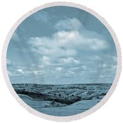Sailing Over Slope County Round Beach Towel