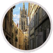 Saint Andre Cathedral Round Beach Towel