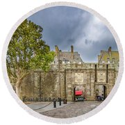 Saint-malo Gates Round Beach Towel
