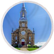 Saint Peter's Catholic Church Round Beach Towel