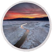 Salt Creek Flats Round Beach Towel