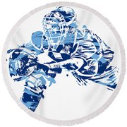 Salvador Perez Kansas City Royals Pixel Art 1 Round Beach Towel