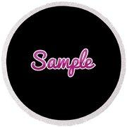 Sample #sample Round Beach Towel