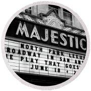 San Antonio Majestic Theatre Round Beach Towel