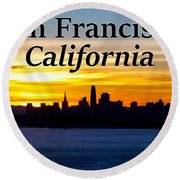 San Francisco Sunrise 2x3 Round Beach Towel