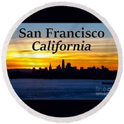 San Francisco Sunrise 2x3 Round Beach Towel