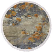 Sand, Charcoal, And Rust Round Beach Towel