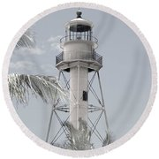 Sanibel Lighthouse Round Beach Towel