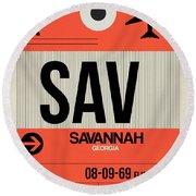 Sav Savannah Luggage Tag I Round Beach Towel