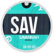 Sav Savannah Luggage Tag II Round Beach Towel