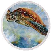 Save The Turtles Round Beach Towel