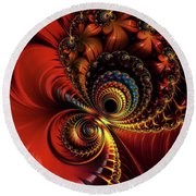 Scarlet O'hare. Round Beach Towel
