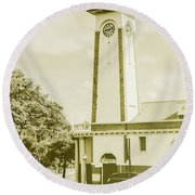 Scenes From Old Sandgate Round Beach Towel
