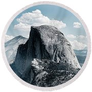 Scenic View Of Rock Formations, Half Round Beach Towel