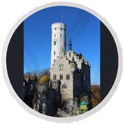 Schloss Lichtenstein Round Beach Towel