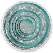 Seabed Circles Round Beach Towel