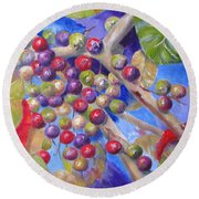 Seagrapes Round Beach Towel
