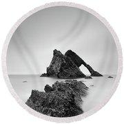 Seascape Rocks - Bow Fiddle Round Beach Towel