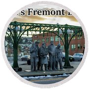 Seattle's Fremont District  Round Beach Towel
