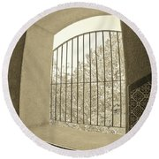Sedona Series - Through The Window Round Beach Towel