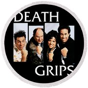 Seinfeldblackflag Round Beach Towel