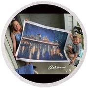 Self Portrait 21 - Finding Stored Treasures Round Beach Towel